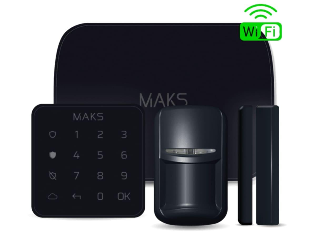 MAKS PRO WiFi комплект беспроводной сигнализации с Wi-fi (черный)